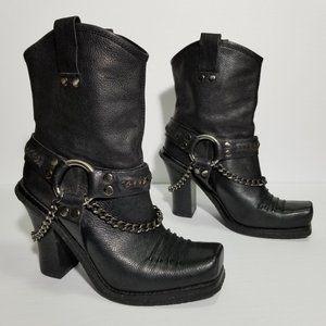 Lisa for Donald J. Pliner BBB Harness Moto Boots